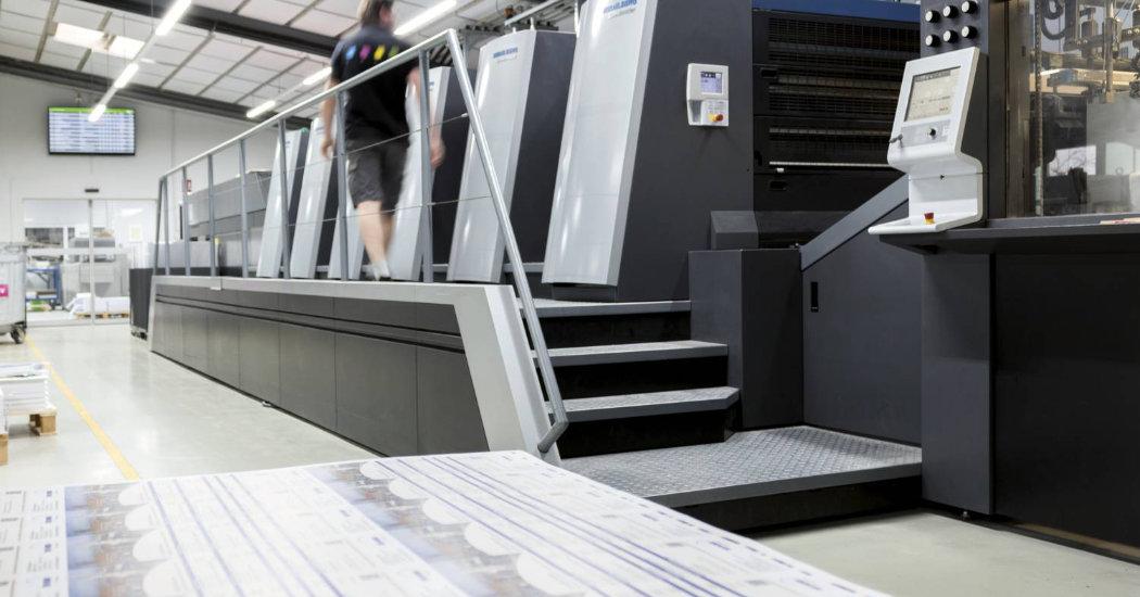 Moderne Druckmaschinen bei der Kern GmbH