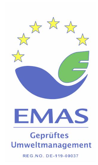 EMAS-Zertifikat Druckstudio Gruppe