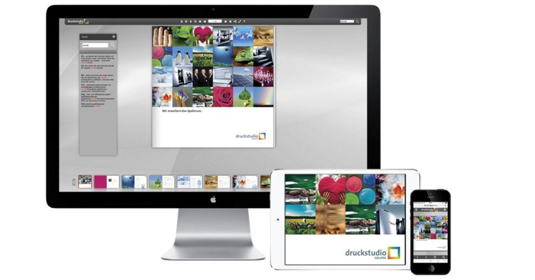 Digitale Dienstleistung Druckstudio Gruppe