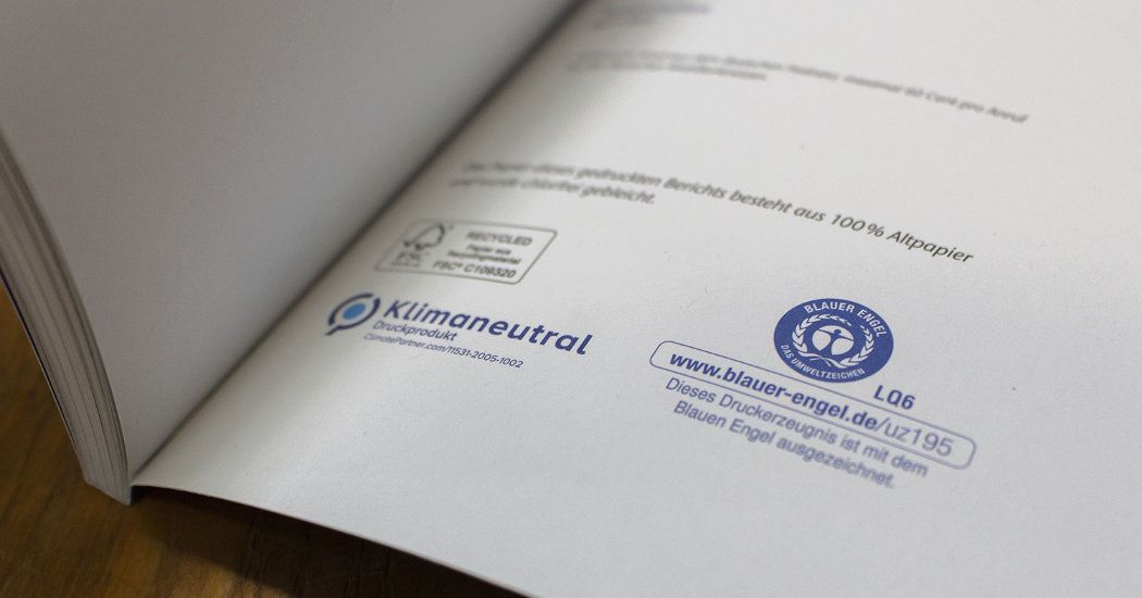 Umweltbericht Fraport AG, nachhaltig gedruckt bei der Kern GmbH.