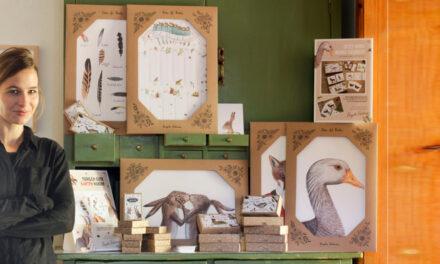 """<p><span style='font-size:18px;'>Papeterie, Atelier Brigitte Baldrian</span> <br />""""Nachhaltig drucken ist eine Wertsteigerung!""""</span></p>"""