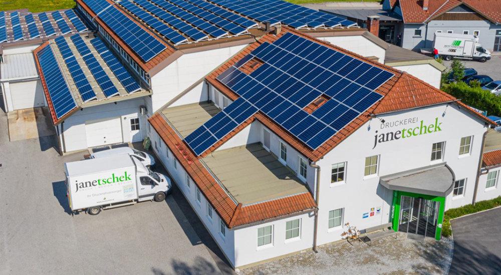 Sonnenenergie bei der Druckerei Janetschek