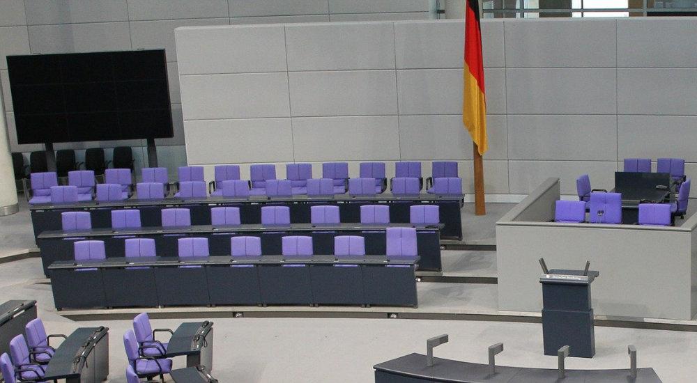 Regierungsbank Bundestag, die Grünen