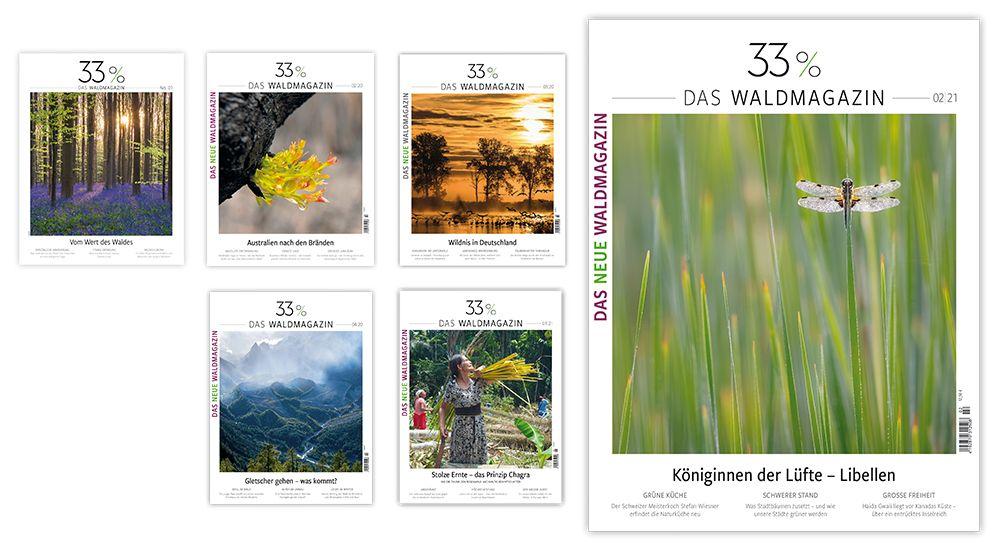 Klimaschonung 33% Wald  ‒ ein waldfreundlich gedrucktes Magazin