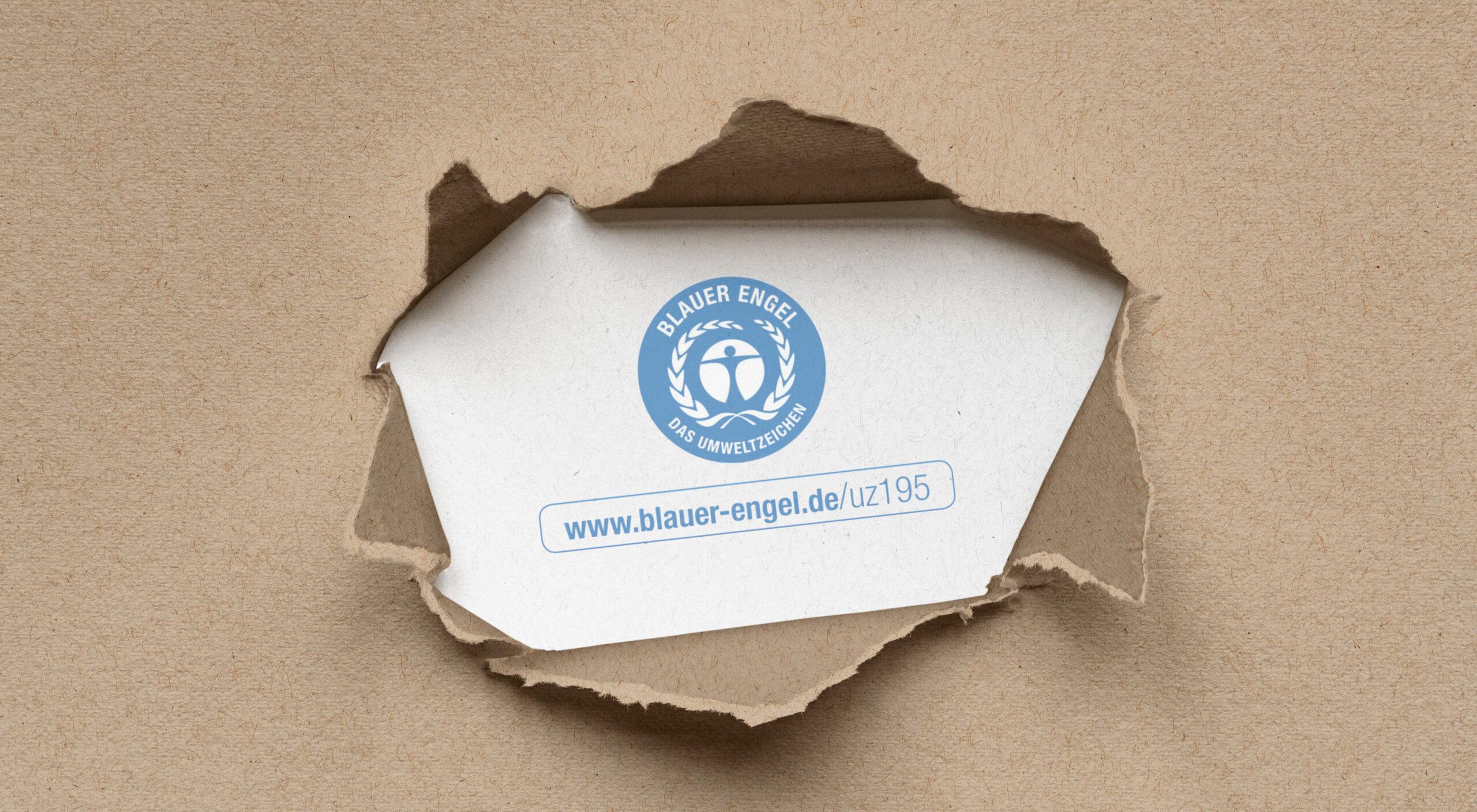 Blauer Engel für Drucksachen DE-UZ 195