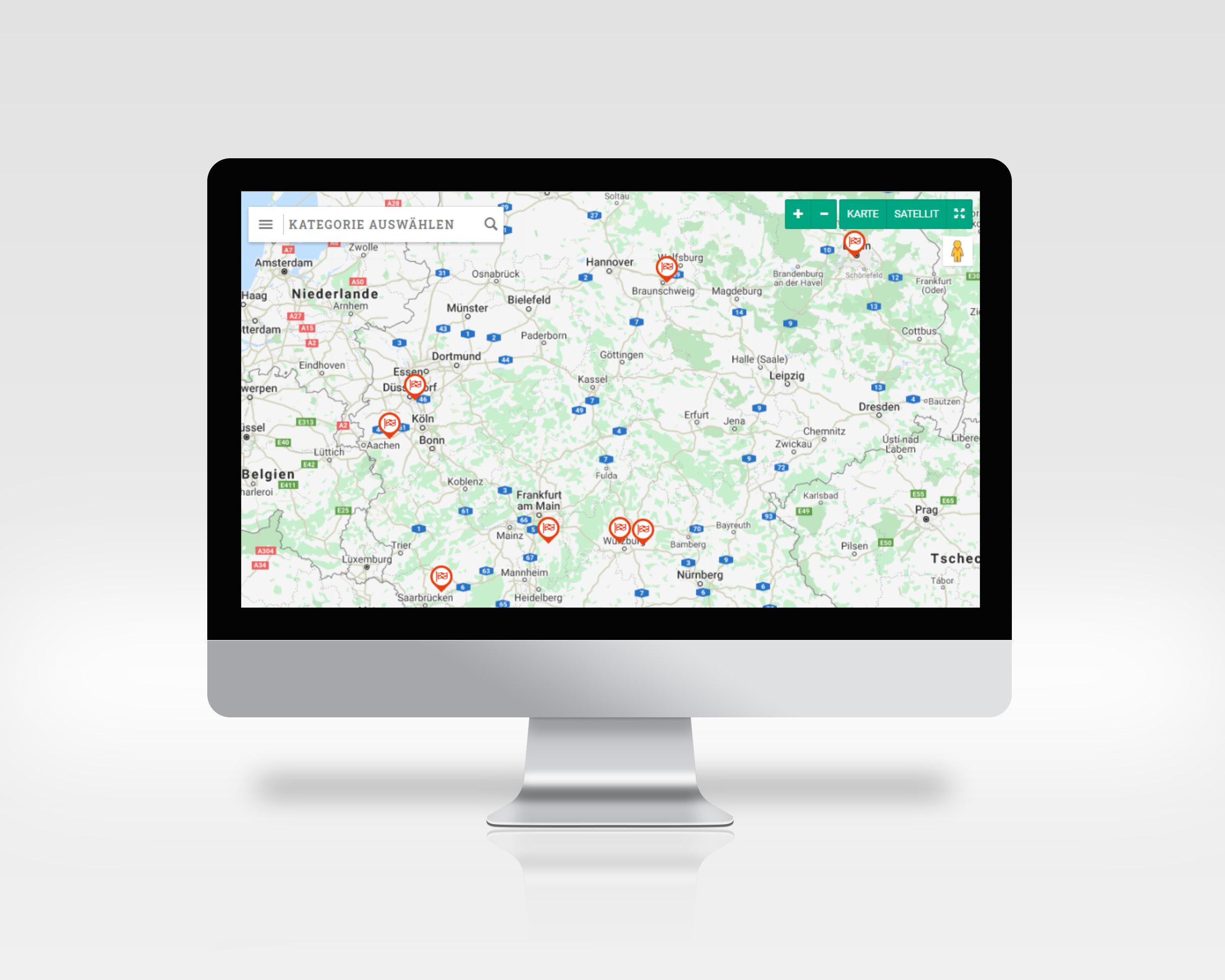 UmDEX, Ökodruckereien auf der Landkarte finden finden
