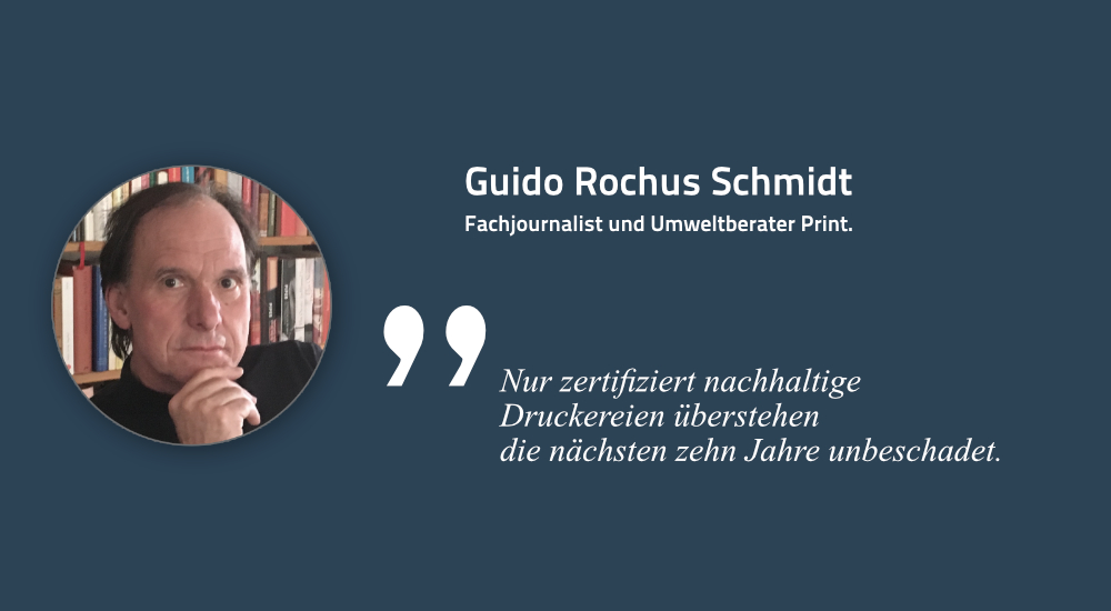 Guido Rochus Schmidt, Umweltexperte, Unternehmensberater
