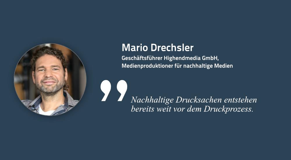 Mario Drechsler, Medienproduktioner für nachhaltige Medien