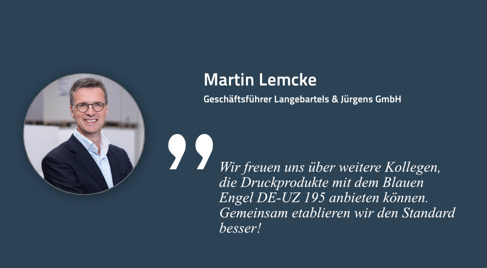 Martin Lemcke, Geschäftsführer Langebartels & Jürgens GmbH