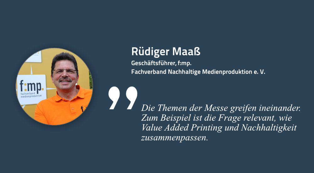 Rüdiger Maaß, Initiator der Print & Digital Convention 2021 in Düsseldorf
