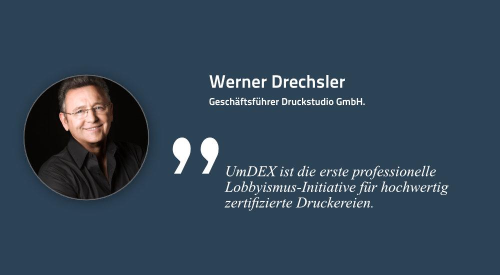 Werner Drechsler, Geschäftsführer druckstudio GmbH, Düsseldorf